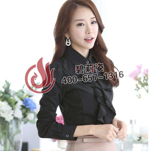女式衬衫长袖新款雪纺衫